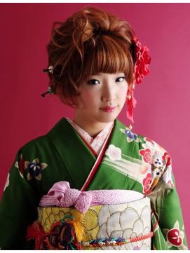 image002 成人式振袖に似合うヘアスタイル2017|ショート編!編みこみは出来る?