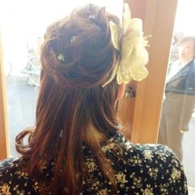 image0011 卒業式の袴に似合う髪型ミディアム|編み込みやサイドアップの手法